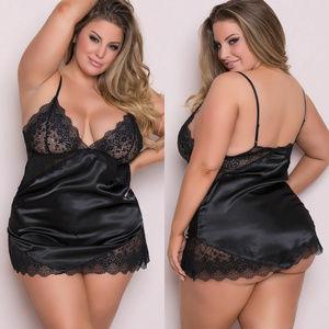 Other - Plus Size Lingerie Women Silk Lace Dress Babydoll